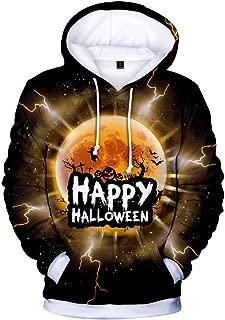 Zackate Unisex Casual 3D Print Hooded Pullover Party Long Sleeve Hoodies Sweatshirts Halloween XXS-4XL