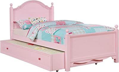 247SHOPATHOME Rossa Panel Kids Bed, Single, Pink