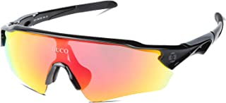 Polarized Sports Cycling Sunglasses for Men with 5 Interchangeable Lenses for Running Golf Fishing Hiking Baseball 0020