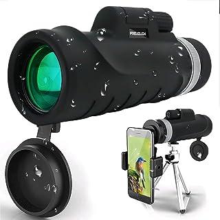 Monokulärt teleskop, 12 x 42 hög kraft och HD monokulär med universell smartphonehållare BAK4 prisma för fågelskådning, ja...
