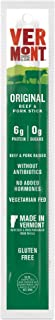 Vermont Smoke & Cure Pork & Beef Jerky Sticks, Antibiotic Free, Gluten Free, No Added Hormones, Low Calorie Snack, Paleo & Keto Friendly, Original, 1oz Stick