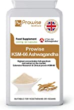 KSM-66 Ashwagandha 500mg 90 Capsules |Certified KSM-66 100% Natural Supplement | Ayurveda Formula – UK Manufactured to GMP Guaranteed Quality-Suitable for Vegetarians & Vegans by Prowise Healthcare
