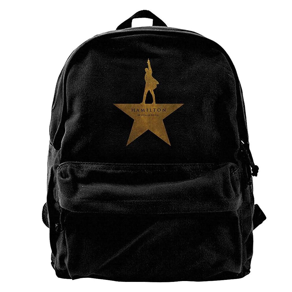 Canvas Backpack Hamilton An American Musical Rucksack Gym Hiking Laptop Shoulder Bag Daypack For Men Women