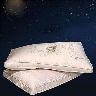 Rekaf Almohada almohada individual Core protege la columna cervical.Hotel Pure Cotton ayuda a dormir, el conjunto cabeza es suave, cómodo y transpirable extraíble lavable funda de almohada (48cm * 74c