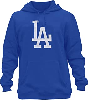 Mens Dodgers Embroidery Heavy Soft Sweatshirt Hoodie