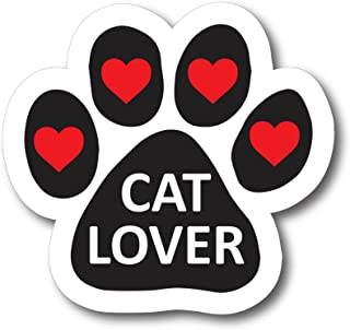 Magnet Me Up Cat Lover Pawprint Car Magnet - 2x7 Paw Print Auto Truck Decal Magnet