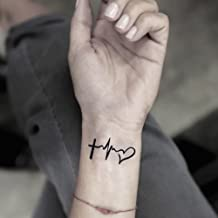 Faith Love Hope Temporary Fake Tattoo Sticker (Set of 2) - www.ohmytat.com