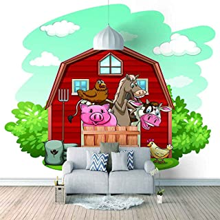 VITICP Adults Kids Wall Stickers Decals Peel and Stick Removable Wallpaper Cartoon red hut for Nursery Bedroom Living Room...