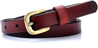 Vonsely ladies leather belt are made of genuine leather and stylish green bronze alloy buckle, soft and comfortable, simple style but with good look.