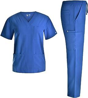 Unisex 4 Way-Stretch Scrubs Set - Uniform Women and Men Workwear School Scrubs Set V Neck JYC336
