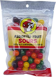 Buc-ee's Assorted Fruit Sours Candy in a Resealable Bag, Fat Free, 12 Ounces