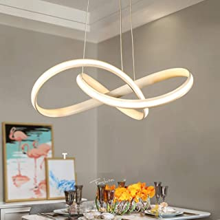 Elegante 24 Watt LED Hänge Leuchte Esszimmer Energie Spar Decken Lampe dimmbar