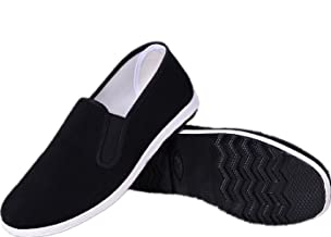 APIKA Chinese Traditional Old Beijing Shoes Kung Fu Tai Chi Shoes Rubber Sole Unisex Black