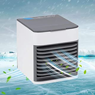 Personal Air Cooler Fan, Portable Air Conditioner, Humidifier, Purifier 3 in 1 Evaporative Cooler, Mini AC USB Cooling Desktop Fan for Bedroom, Travel, Office