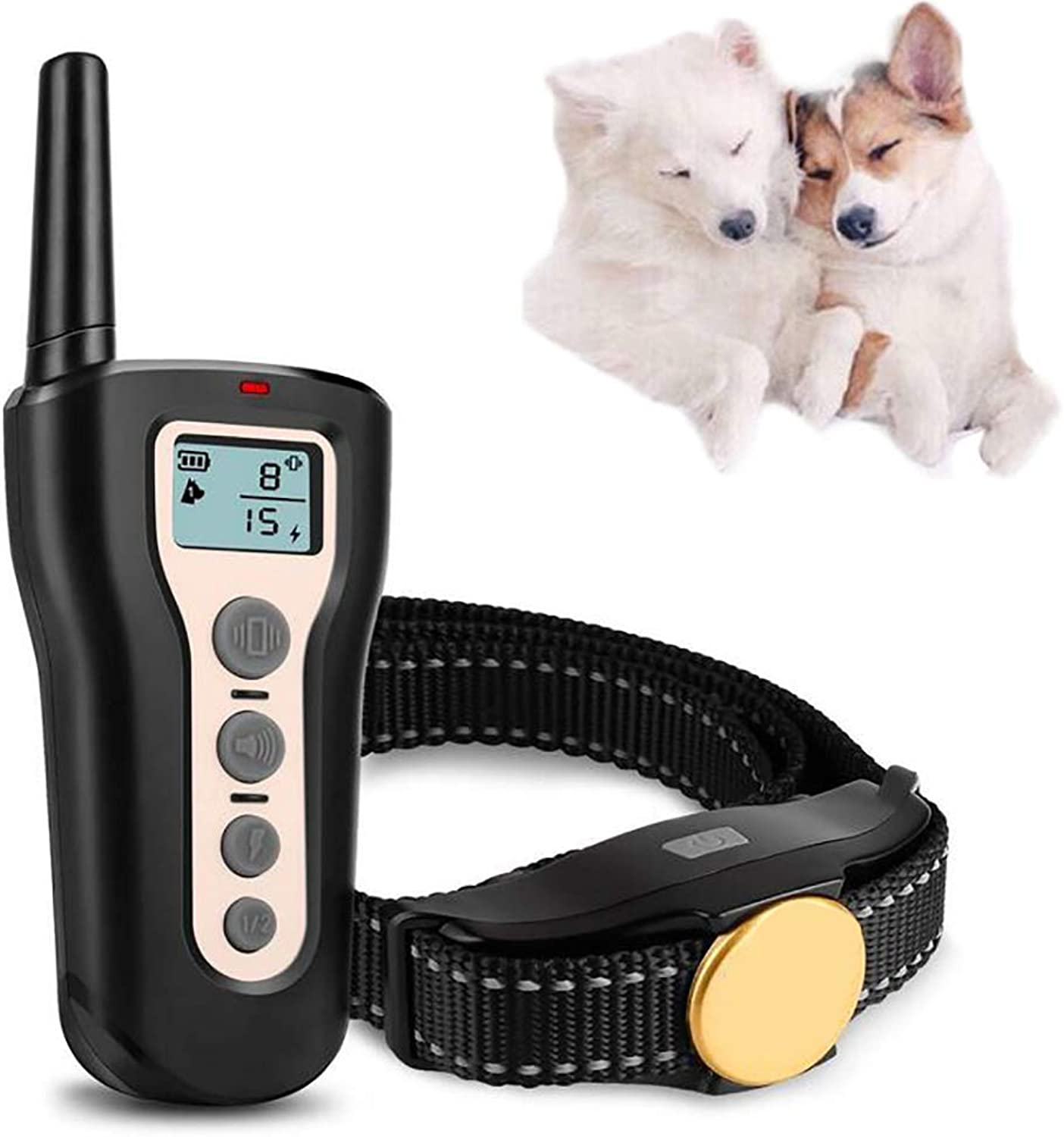 Dog Training Collars  Electric Sport Dog Shock Collar with Remote, Rechargeable, with Beep Vibration Shock for Small Medium Large Dogs