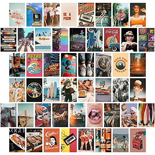 TROOPIC - 50 Fotos de Pared Decoración Habitación Adolescente Aesthetic, colección Vintage, 10 x 15 cm, Acabado Mate en papel de 300 gramos. Posters para Pared Aesthetic Hecho en España