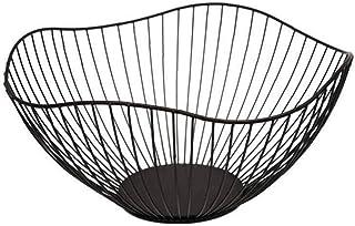 NiceCore Fruit Basket Bowl métal de fil de fer Collation de stockage Porte légumes forme d'onde pour la cuisine Countertop