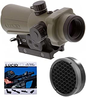 LUCID Optics HD7 Red Dot Sight, Generation III (Tan, 4 Reticle Options) with Flash Filter and Cleaning Cloth
