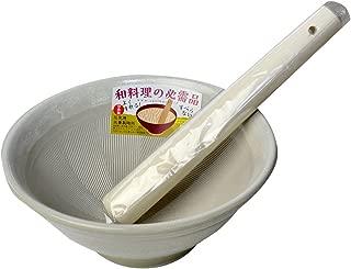 元重製陶所 石見焼 すり鉢 6号 (直径18cm・すりこぎ付) 白マット