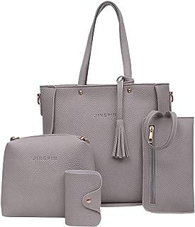 Women Shoulder Bags Women Four Pieces Tote Bag Crossbody Wallet Shoulder Bags Leather