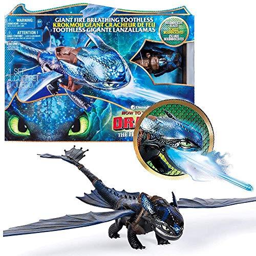 Dragons Feuerspuckender Action Ohnezahn | DreamWorks Drachen-Atem Toothless