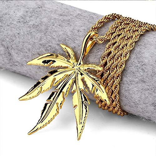 DTKJ Mode Gold Und Silber Farben Jamaika Reggae Hanf Blätter Anhänger Halskette Sommer Schmuck Für Männer Und Frauen Geschenk