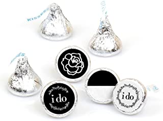 I Do - Wedding Round Candy Sticker Favors – Labels Fit Hershey's Kisses (1 Sheet of 108)