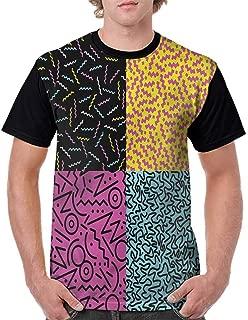 BlountDecor Performance T-Shirt,Oriental Pattern Sea Stars Fashion Personality Customization