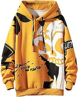 Unisex 3D Print Pullover Sweaters ShirtVine_MINMI Hoodies for Men Women Sweatshirts Hooded Jacket with Pocket Yellow