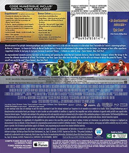 Avengers : La Guerre de l'Infini [Blu-ray] (Bilingue) - 1