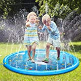 Water Play Mat, 68' Sprinkle and Splash Play Mat Toy Perfect Inflatable Outdoor Sprinkler pad for Children Infants and Toddlers 2019 All New Summer Water Toys (68 INCH)