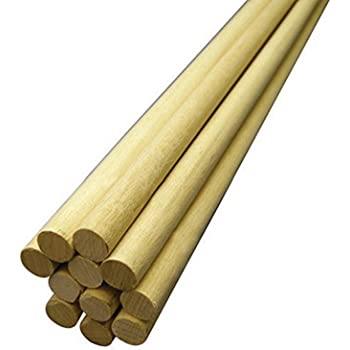 Hygloss Products, Inc 1/2-Inch x 12-Inch, 10-Pack Wooden Dowel Rods