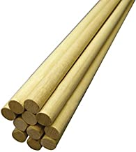 Hygloss Products, Inc 3/4-Inch x 12-Inch, 10-Pack Wooden Dowel Rods