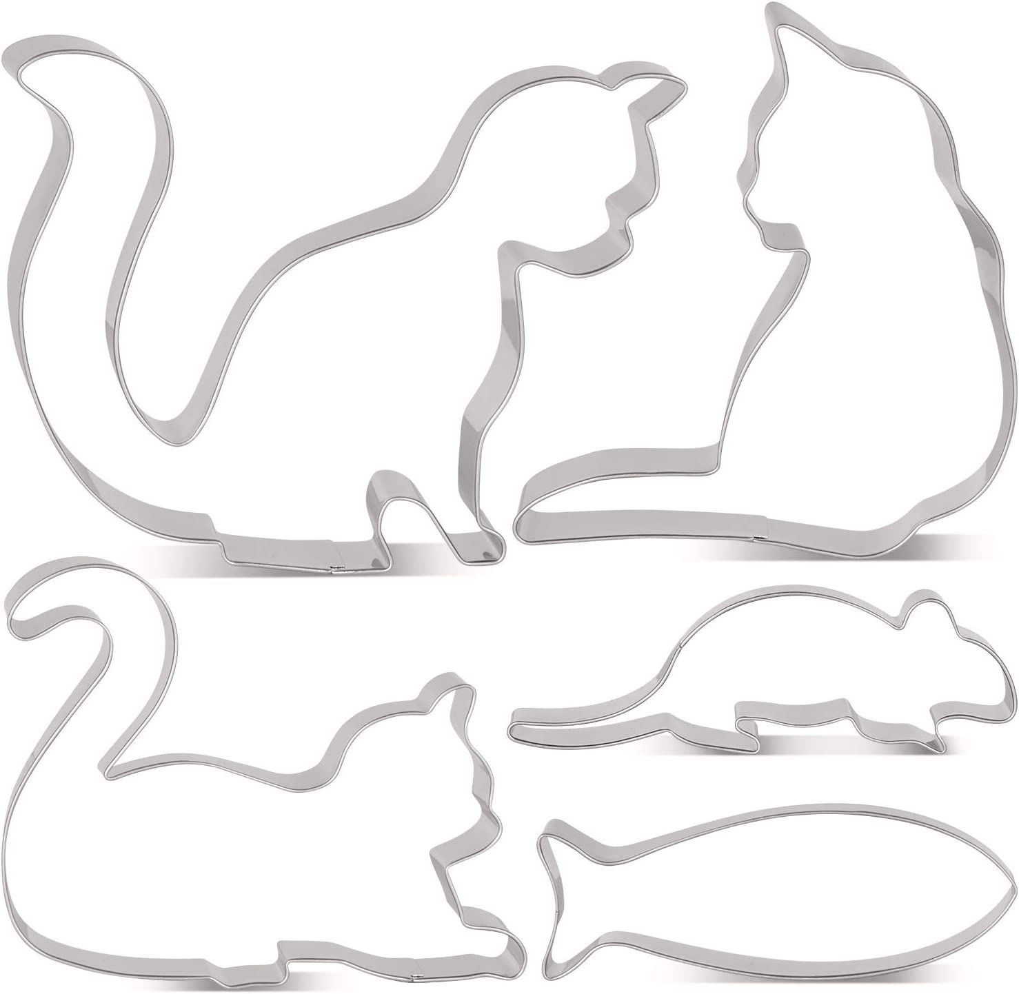 LILIAO Cat Cookie Cutter Set Challenge the lowest price Long Beach Mall Sitting Piece Curled 5 -