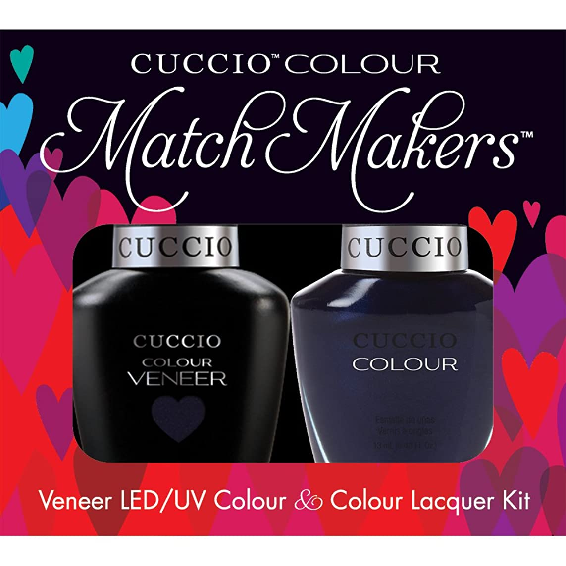 農業のパラシュートせがむCuccio MatchMakers Veneer & Lacquer - On the Nile Blue - 0.43oz / 13ml Each