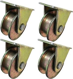 Type Schuifpoort Roller Groove Wielspoor,Stalen Schijf Schuifdeur Richtingswiel,voor Industriële Machines Carts (4 pack, 1...