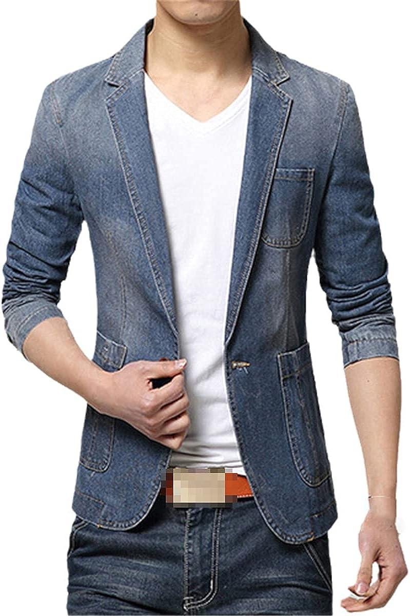 Spring Fashion Men's Blazer, Men's Trendy Jeans Blazer