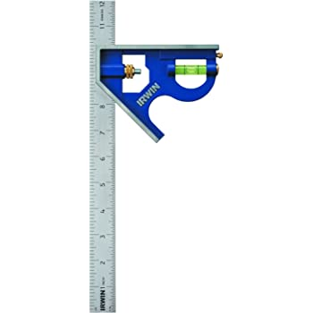 "Irwin Tools Combination Square, Metal-Body, 12"", 1794469"