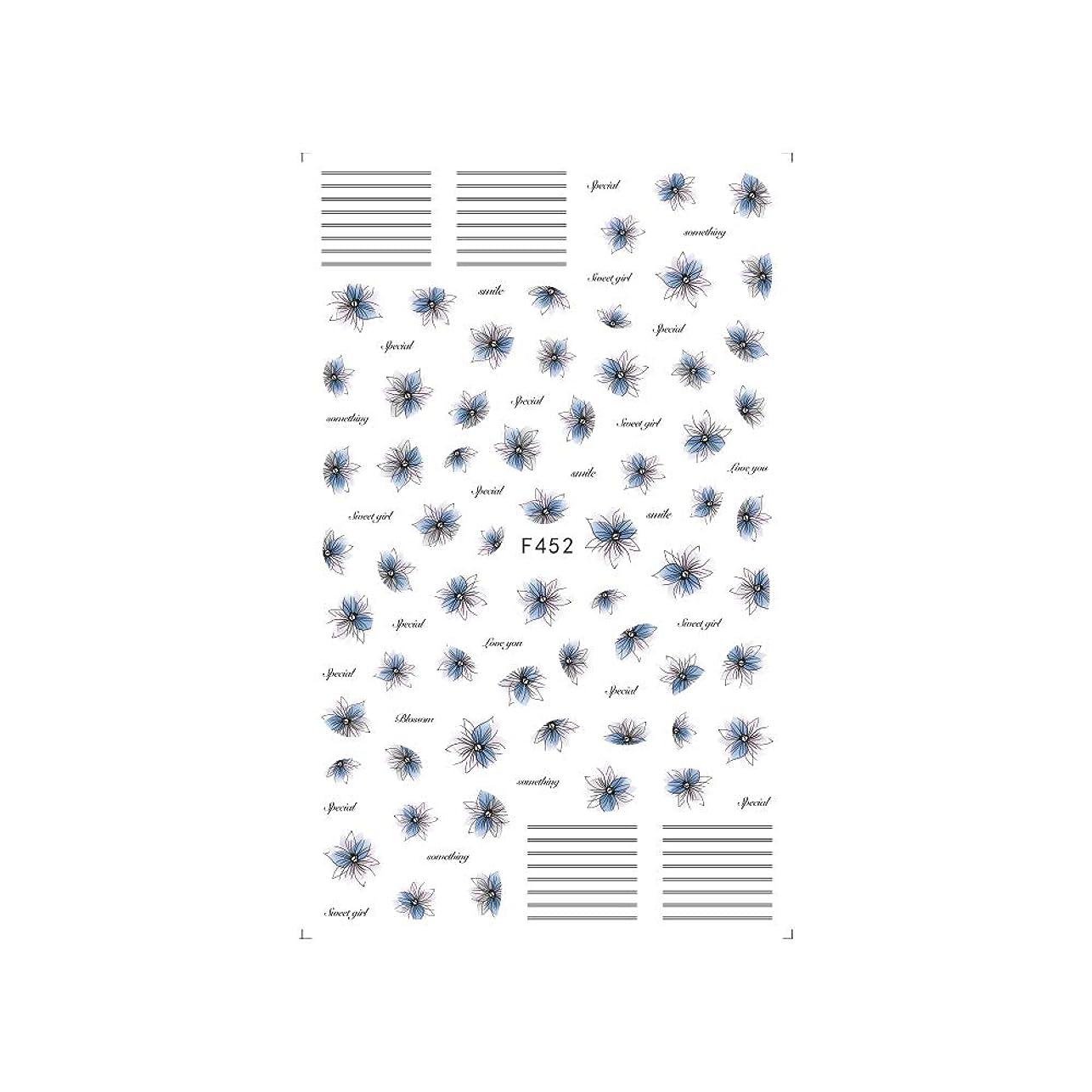 床義務付けられたガムirogel イロジェル ネイルシール ラインブロッサムシール 【F452】フラワー ライン シック ニュアンス