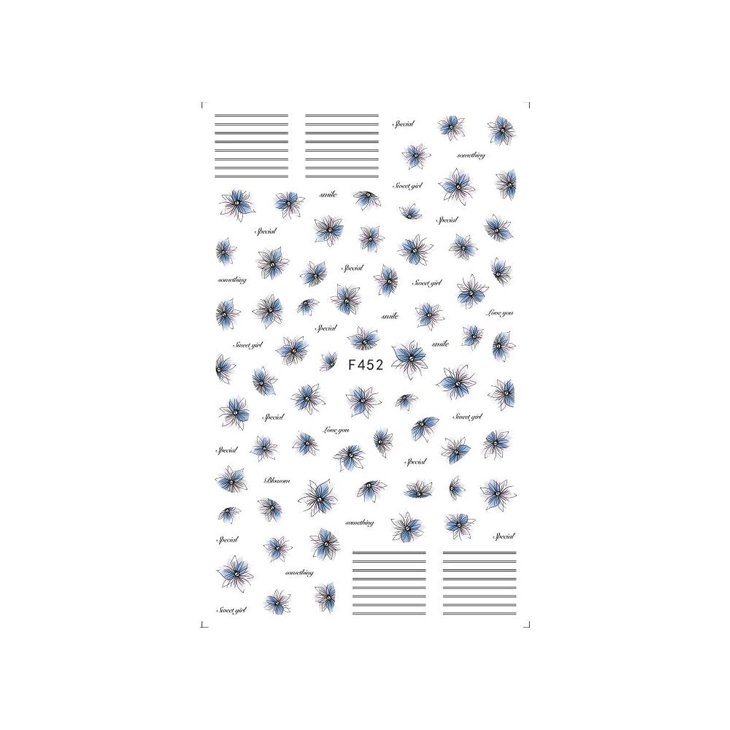 保安ミケランジェロジャベスウィルソンirogel イロジェル ネイルシール ラインブロッサムシール 【F452】フラワー ライン シック ニュアンス