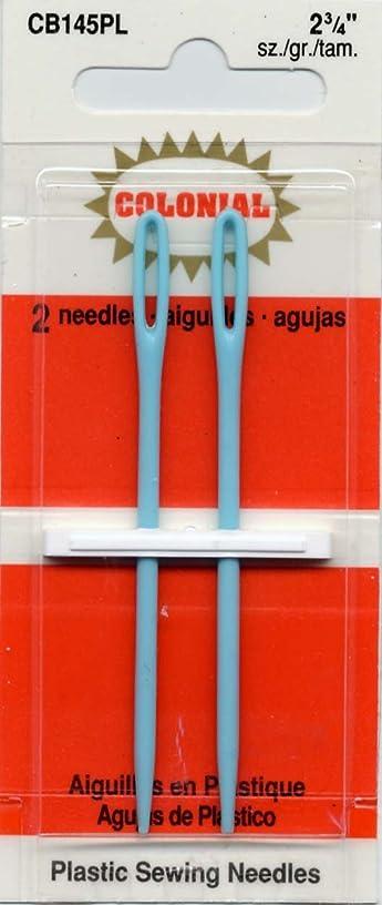 Colonial Needle 2 Count Plastic Needles, 2-3/4