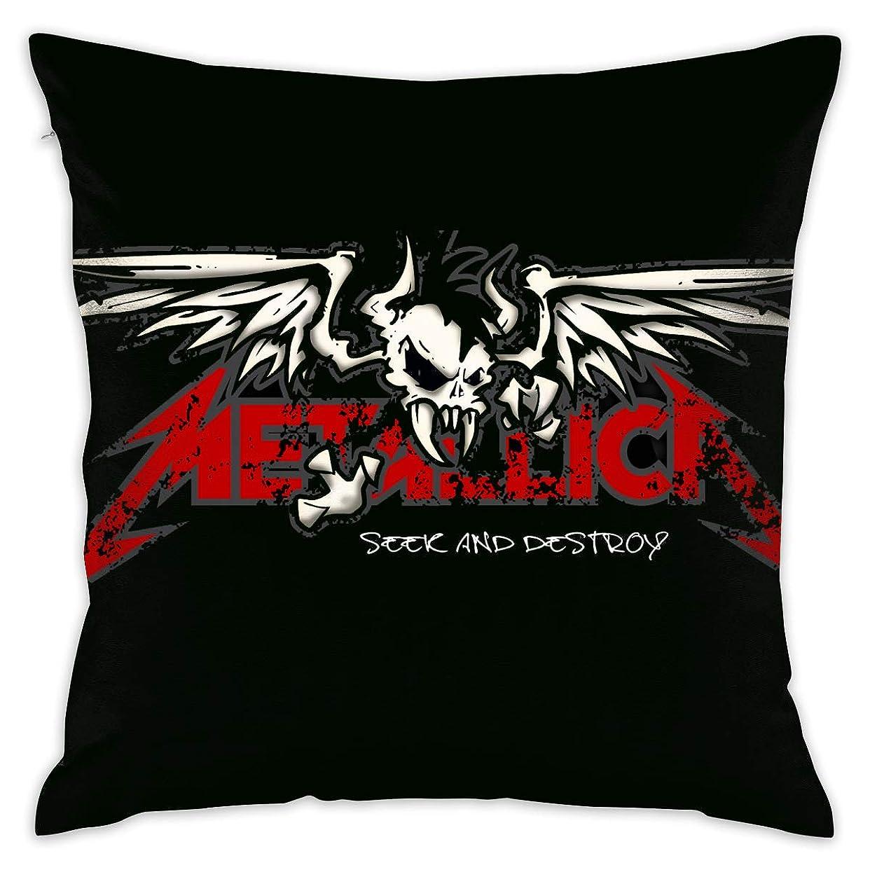 例市区町村連想枕カバー Metallica 100%ポリエステルの豪華な布抱き枕カバー45cm * 45cm