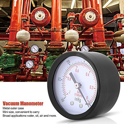 0 ~ -30inHg 0 ~ -1bar Manómetro de presión de vacío 50mm Marque el manómetro...