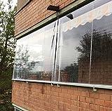Tenda Antipioggia in PVC Crystal Trasparente. LarghezzaxAltezza (200x200)