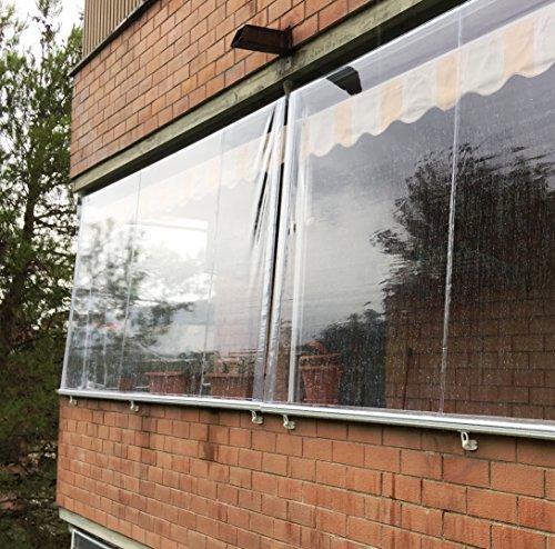 Tenda Antipioggia in PVC Crystal Trasparente. LarghezzaxAltezza (300x200)