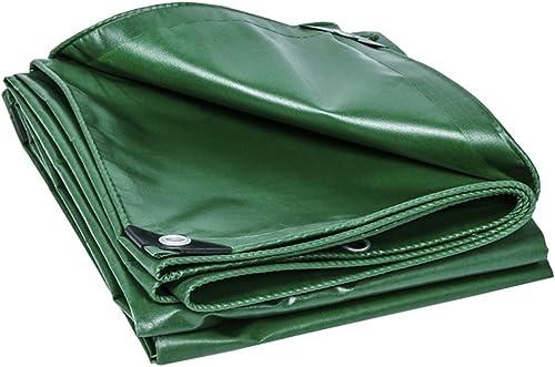 Bache imperméable avec Oeillets en métal et Bords renforcés pour Toit, Camping, extérieur, Patio, réversible, Vert, 420G   m2, épaisseur 0,33 mm, Taille 14 Disponible