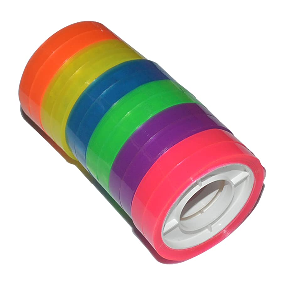 12 Rolls Colorful Decorative Adhesive Plaster Tape for Kids Student