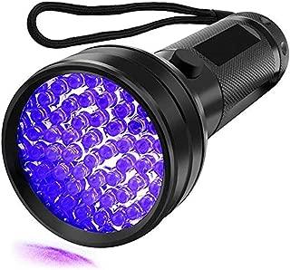 UV Flashlight Black light UV Lights, 51 LED Ultraviolet Blacklight Pet Urine Detector For Dog/Cat Urine,Dry Stains,Bed Bug, Matching with Pet Odor Eliminator