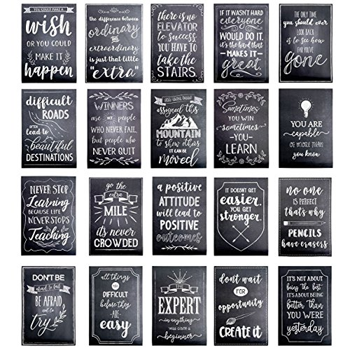 Best Paper Greetings Motivational Posters for Students, Chalkboard Design (13 x 19 Inches, 20-Pack)