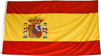 esvendio Bandera de España de Tela Fuerte (2pcs), Bandera Española Grande para Exterior 150x90 cm